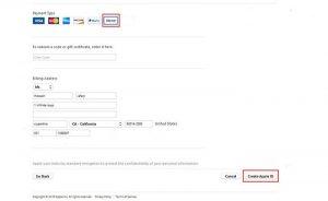 انتخاب گزینه none در payment type، ثبت اطلاعات آمریکایی در billing address، انتخاب گزینه create apple id