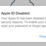 اپل آیدی غیر فعال شده است