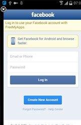 log in free my apps، وارد کردن نام کاربری و رمز عبور، ساخت اکانت جدید