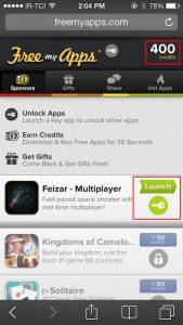 تکمیل ثبت نام، دانلود برنامه مشخص شده free my apps، نصب برنامه معرفی شده از طرف free my apps