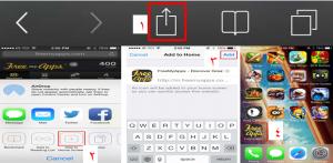 ایجاد Shortcut، انتخاب گزینه add to home screen، انتخاب گزینه add