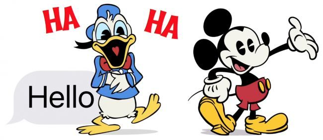 استیکر های اپل Disney