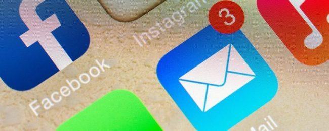 ارسال ایمیل در گوشی اپل