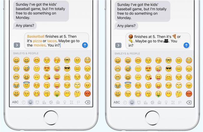 پیام ها Emoji و شکلک ها