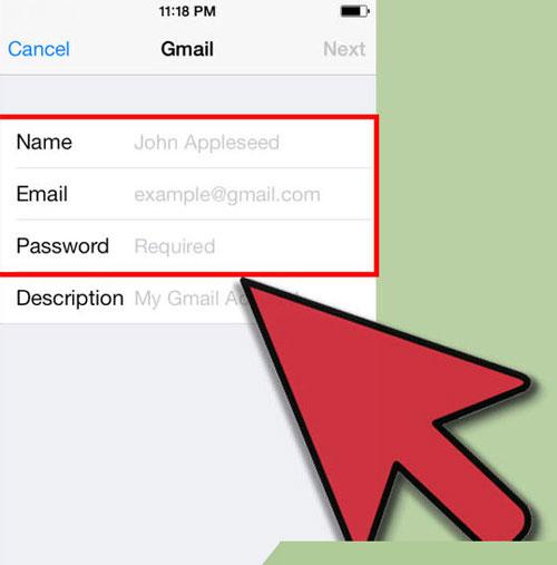 نحوه تنظیم Gmail در گوشی اپل