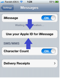 فعالسازی iMessage