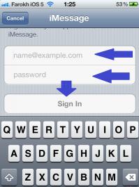 فعال کردن آی مسیج iMessage در ایفون