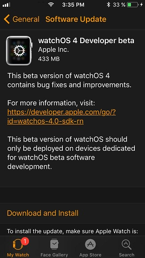 watchOS 4 Developer