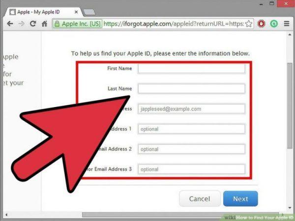 بازیابی کلمه عبور Apple ID