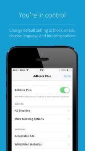 ویژگی های نرم افزار Adblock Browser