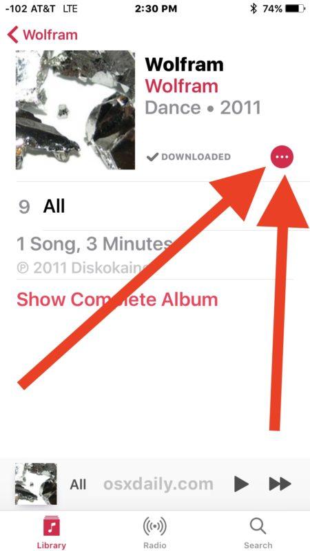 نحوه حذف کردن اپل موزیک در iOS