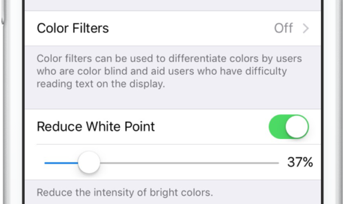تنظیم رنگ صفحه نمایش در ایفون