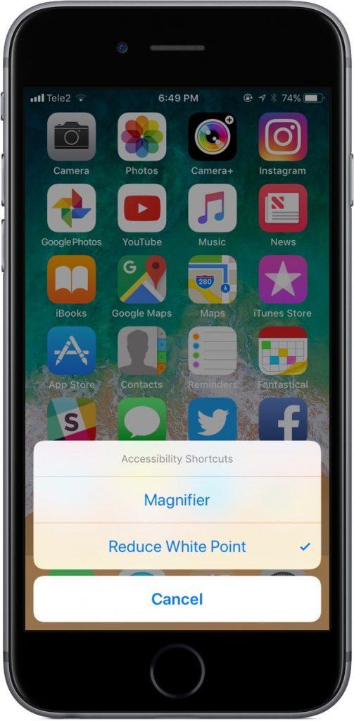 نحوه تنظیم نور صفحه اسکرین در گوشی اپل