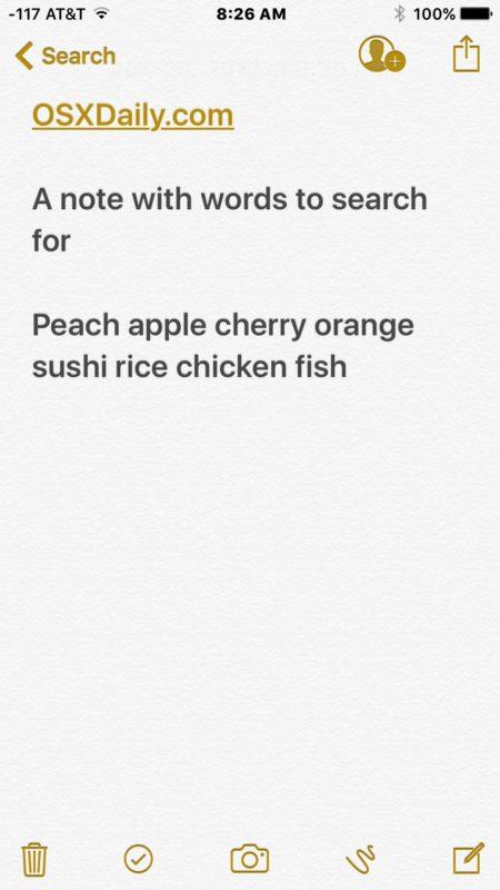 بازکردن دفترچه یادداشت در گوشی اپل