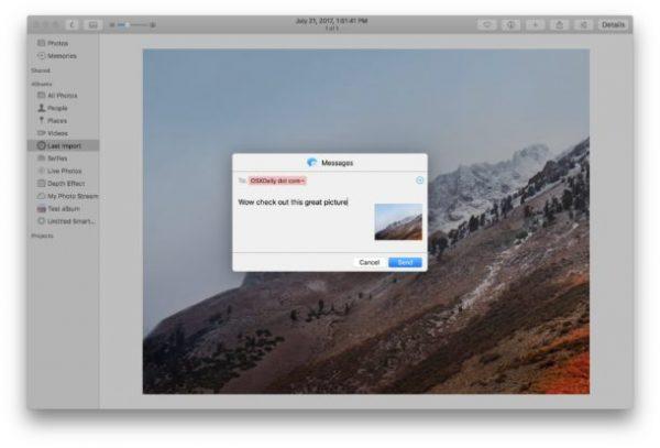 اشتراک گذاشتن تصاویر در برنامه Photos