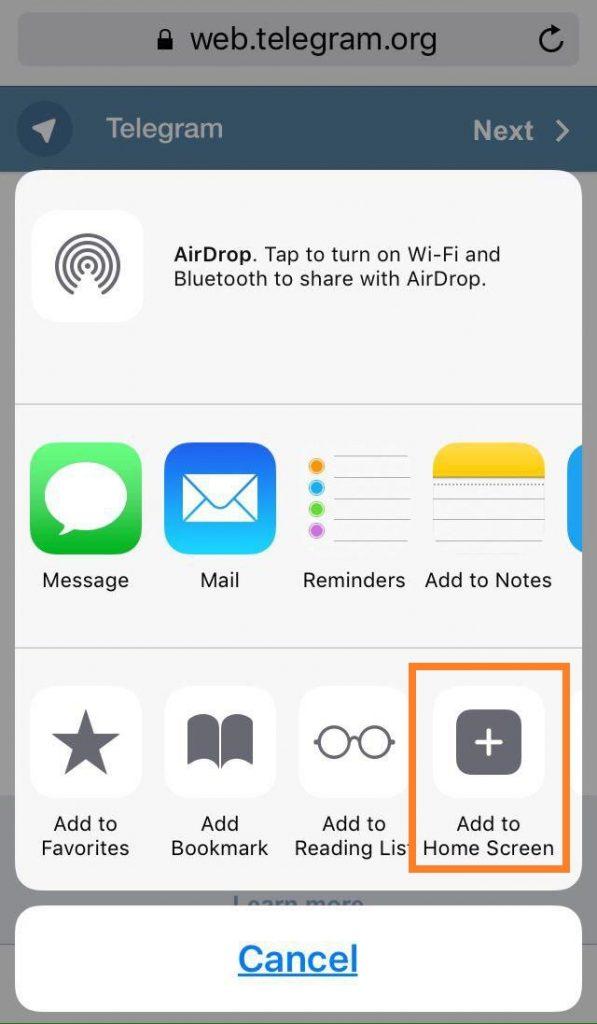 نحوه نصب تلگرام دوم در اپل