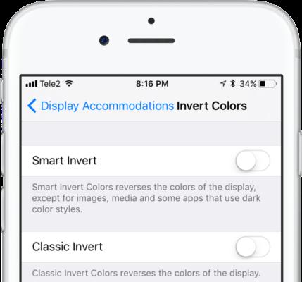 Smart invert چیست و نحوه فعال کردن آن در iOS