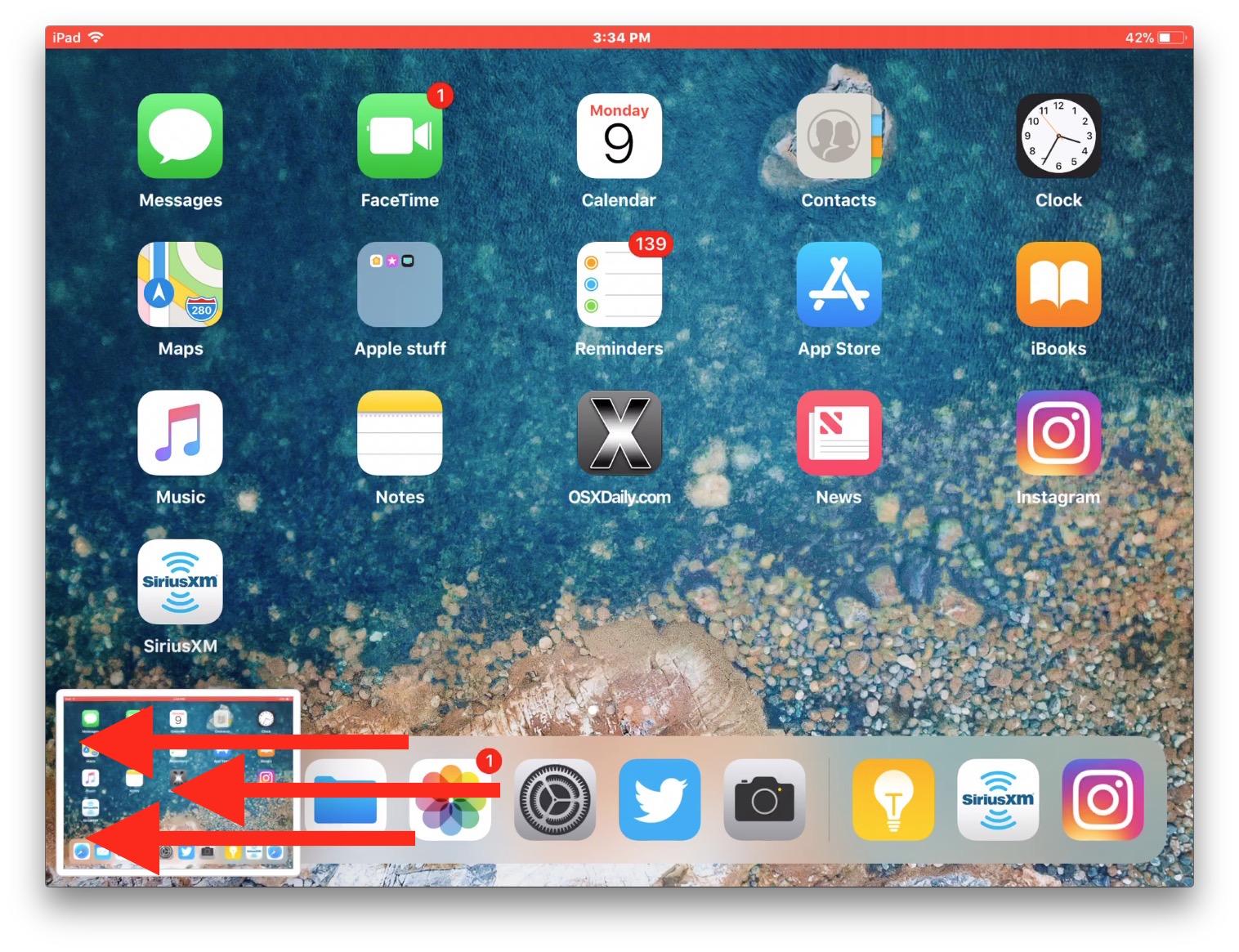 گرفتن اسکرین شات در اپل