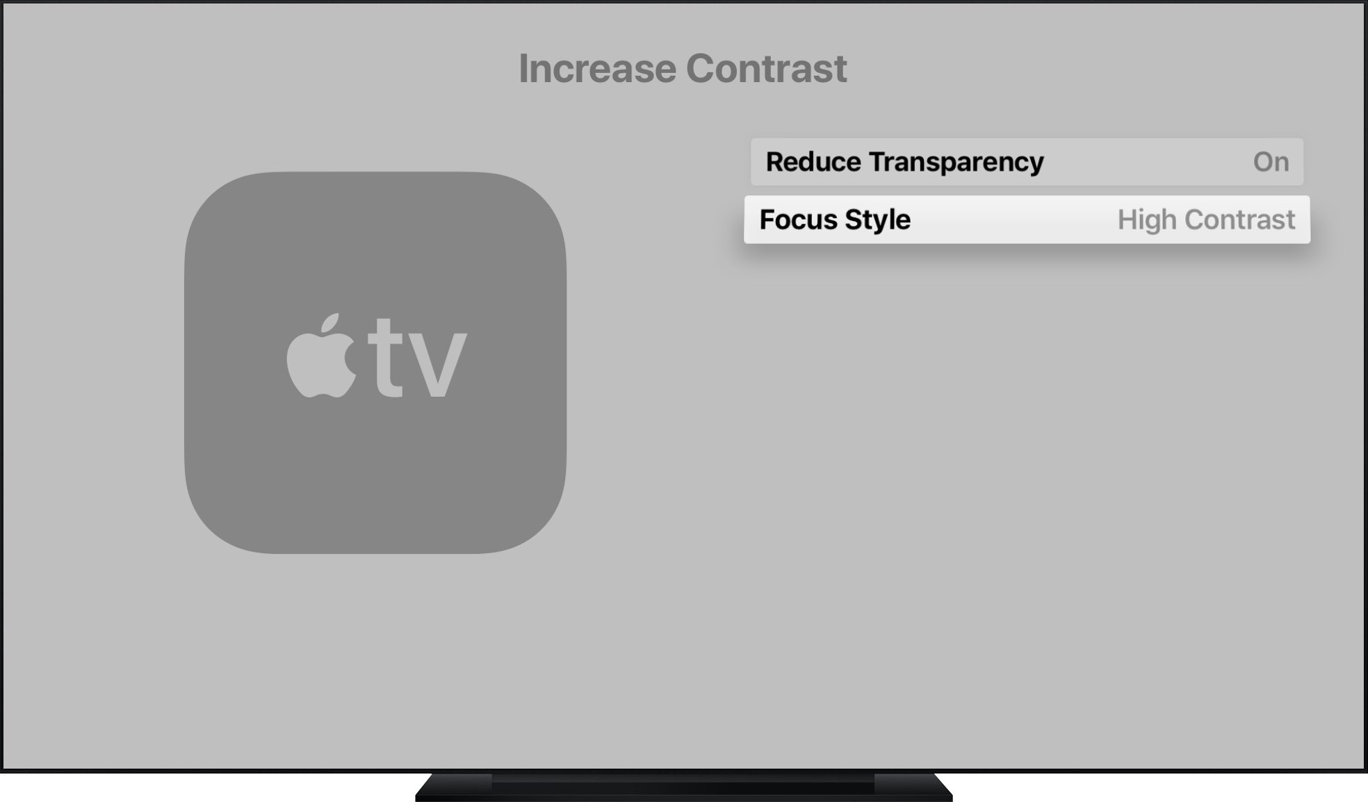 نحوه تنظیم کردن فونت اپل تی وی