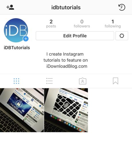 edit profile Bio instagram