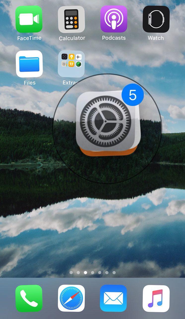 شورت کات برنامه ها در صفحه هوم اسکرین اپل