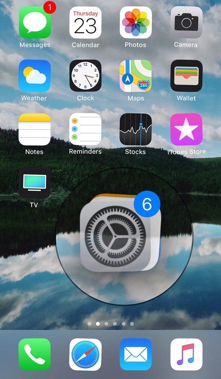 انتقال نرم افزار ها در صفحه اصلی iOS 11