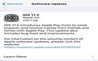 عرضه iOS 11.2 همراه با Apple Pay Cash شارژ بی سیم سریع