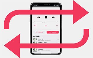 فعال کردن ریپیت پخش اهنگ ، آلبوم و پلی لیست ها در اپل موزیک